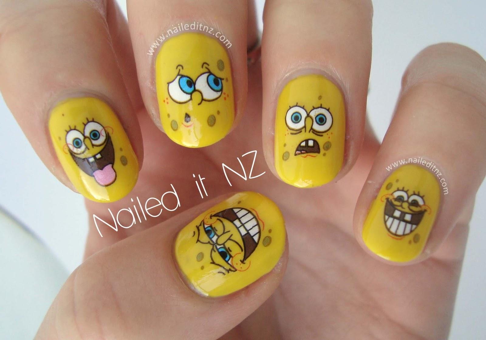 Spongebob Squarepants Nails - Spongebob nail decals