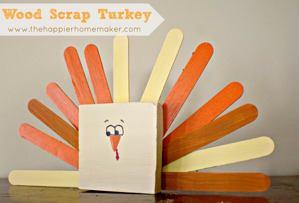 Wood Scrappy Turkey from The Happier Homemaker - via Setting for Four