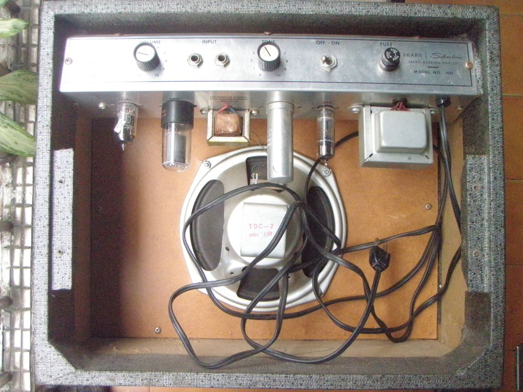 Silver Tone Guitar Wiring Diagram Libraries Diagrams Doing A 3 Wire Mains Cable Conversion On Vintage Silvertone 1481
