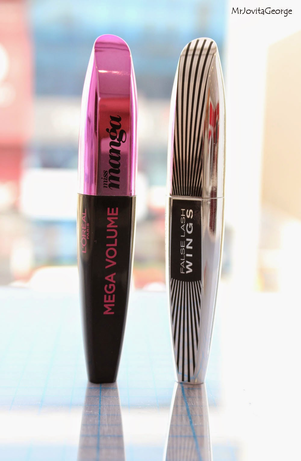 l 39 oreal miss manga mascara vs false lash wings butterfly effect mascara comparison review. Black Bedroom Furniture Sets. Home Design Ideas
