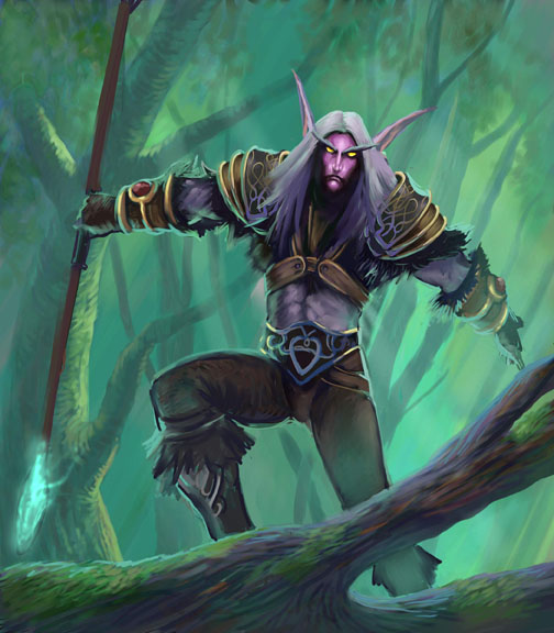 Night Elf Forest por jimbradyart