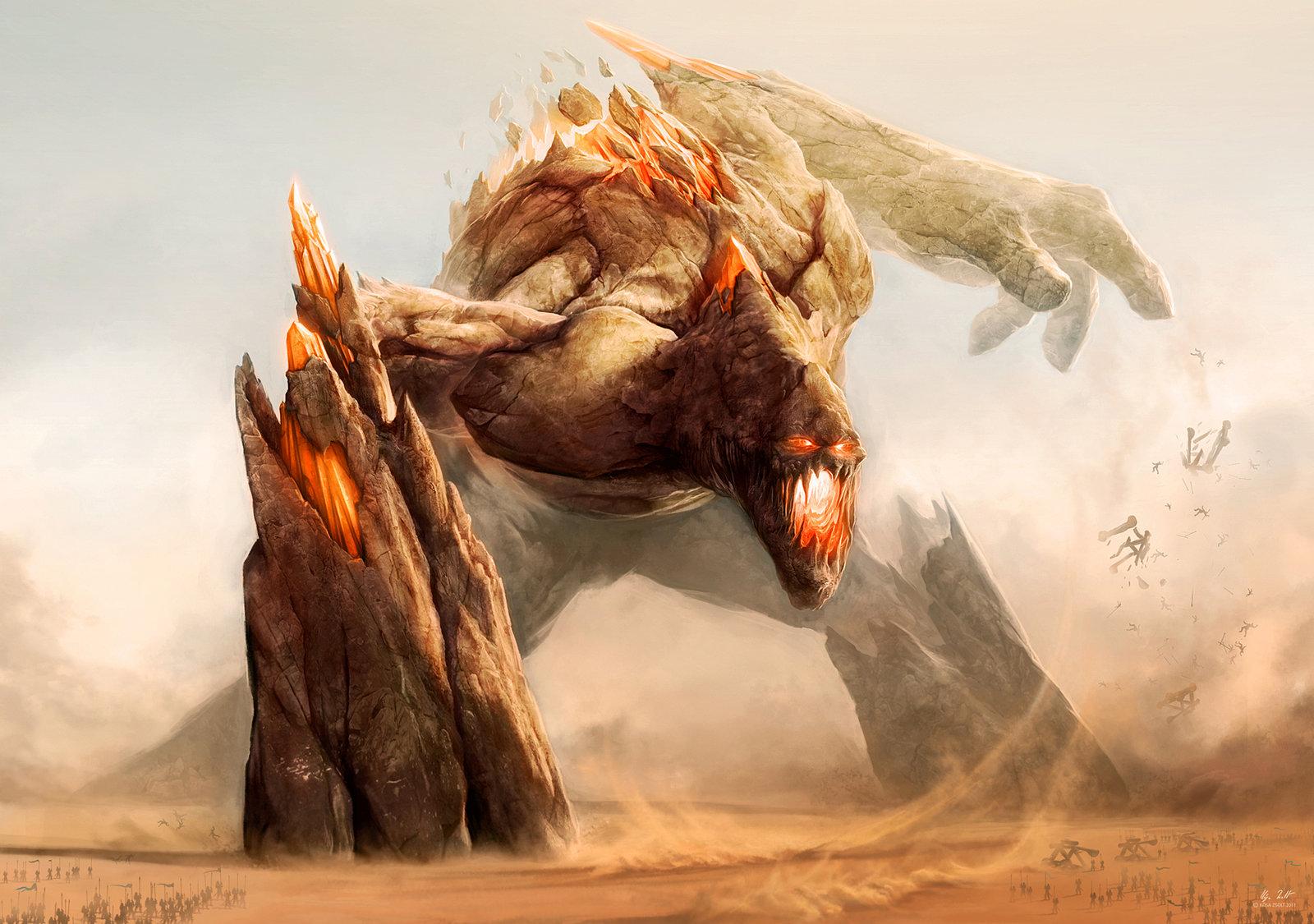 Fantasy Giants Wallpap...
