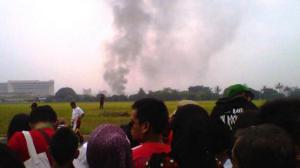 Pesawat Jatuh Bandung Air Show 2012