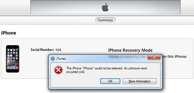 Fix Error 14 iTunes