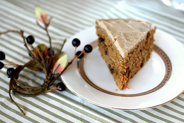 Healthy Carrot Cake with Maple Cinnamon Tofu Frosting