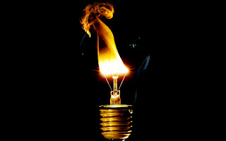 Light Bulb Flaming HD Wallpaper