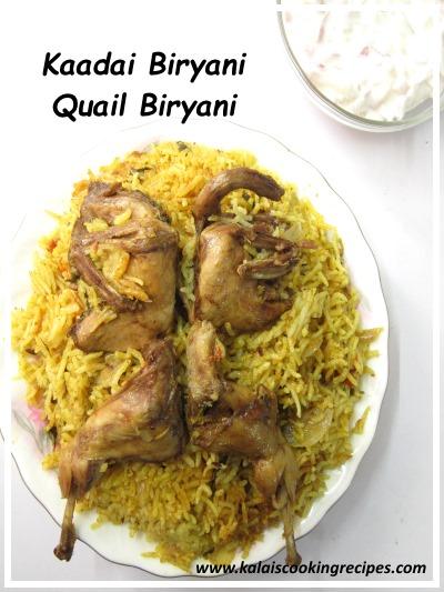 Kaadai | Quail Biryani Pressure cook