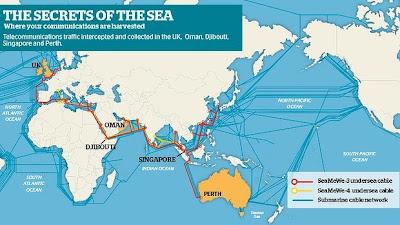 peta kabel fiber optik bawah laut