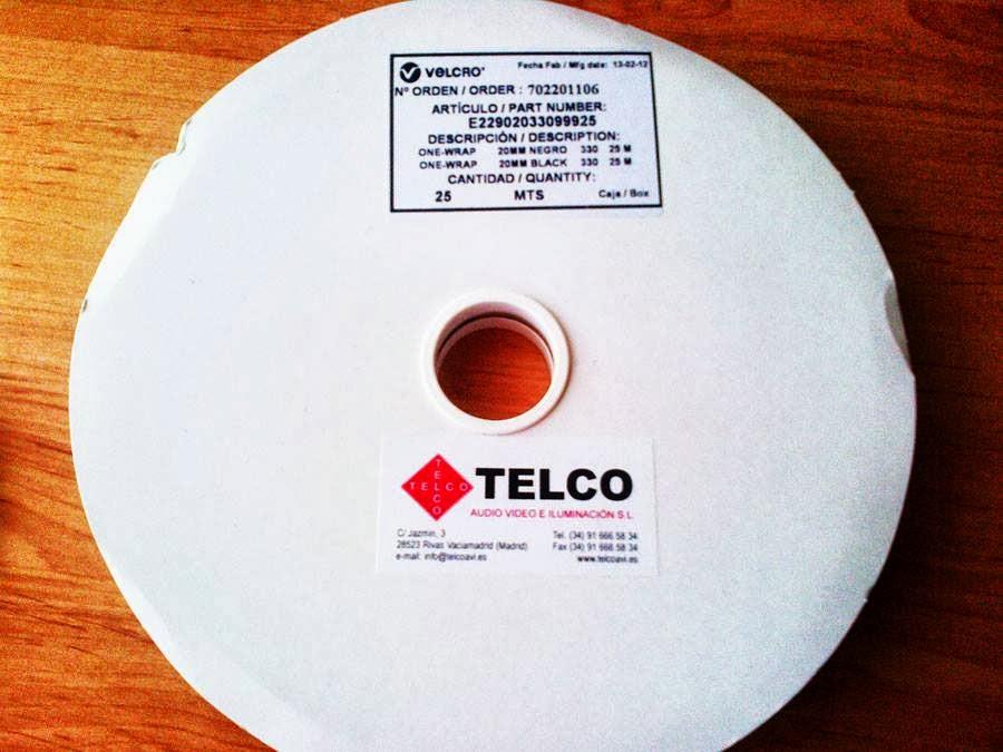 Telcotronica cinta velcro doble cara ancho 10mm rollo de - Velcro doble cara ...