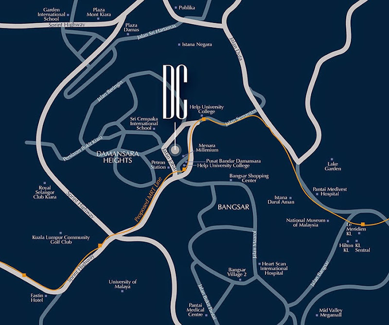 Damansara city residency location map
