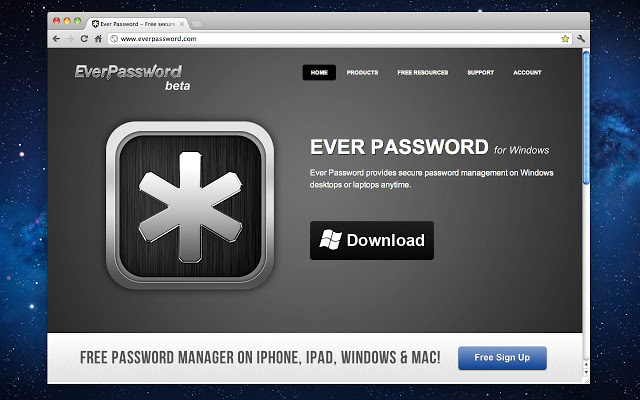 Ever Password gestor de contraseñas con diseño atractivo