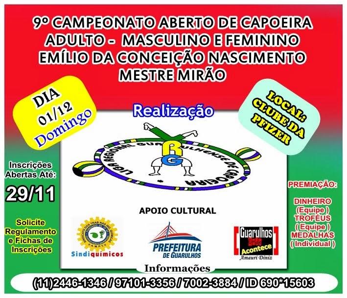 9º CAMPEONATO ABERTO DE CAPOEIRA ADULTO - MASC E FEM