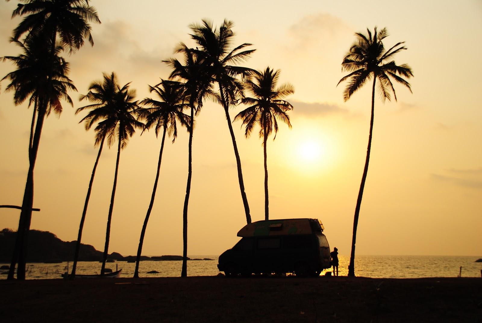Agonda/Goa/India | een prachtige overland spot aan het strand!