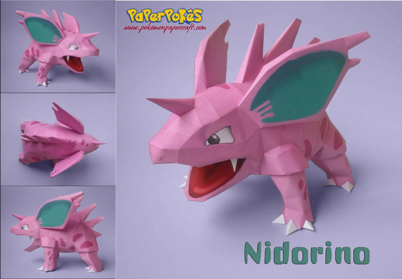 Paperpokés - Pokémon Papercraft: NIDORINOV2