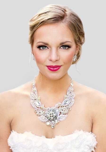 "Statement Wedding Necklace - ""Florence Bridal Lace Necklace"""