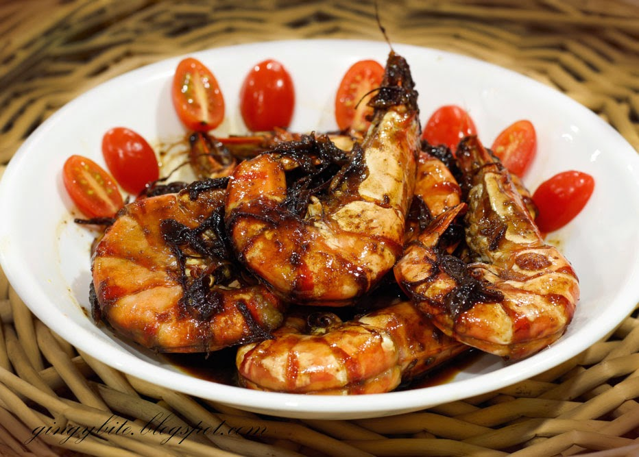 Dark Sweet Sauce Prawn / Kicap Manis Prawn 黑酱油虾