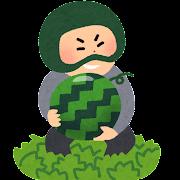 野菜泥棒のイラスト