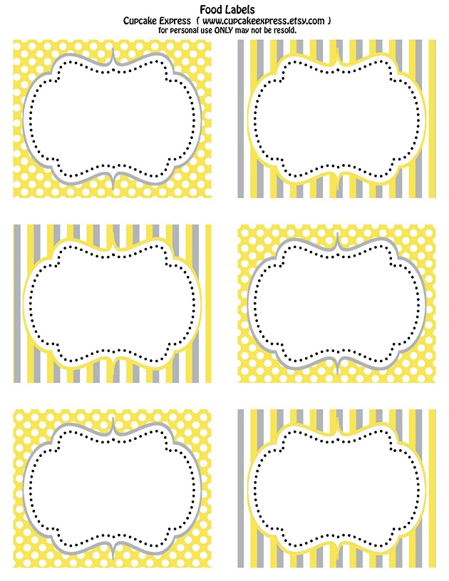 Slobbery image pertaining to free printable food labels for party