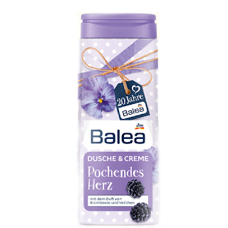 Preview: 20 Jahre Balea - Happy Birthday Limited Edition - Dusche & Creme Pochendes Herz - www.annitschkasblog.de