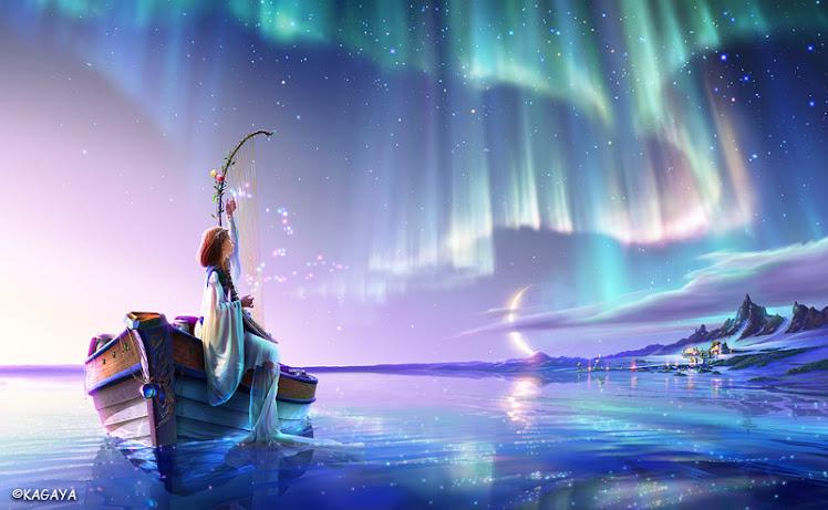 La soledad navega sobre una ola de perdón en las alas de los ángeles.