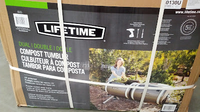 Save the environment with the Lifetime Dual Compost Tumbler