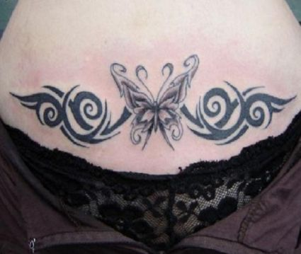 in gallery lower stomach tribal tattoos