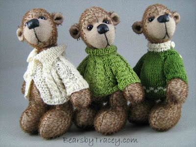 miniature knitting, mohair bear, teddy bear
