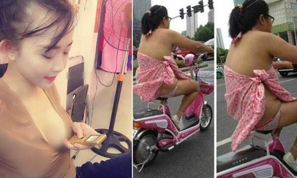 Cô gái Hà Nội đổi 'chuyện ấy' lấy ĐTDĐ, mặc nội y đi xe đạp điện
