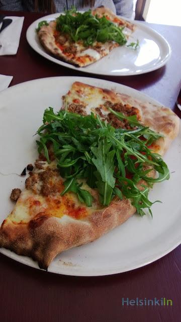 Pizza at Putte in Helsinki