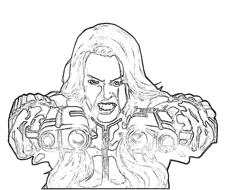 free coloring pages of blackwidow