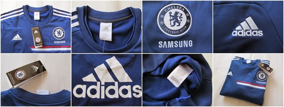 Detail Sweater GO Training Chelsea Blue 2014 Terbaru Big Match Jersey