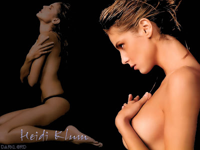 Heidi Klum without cloth wallpaper