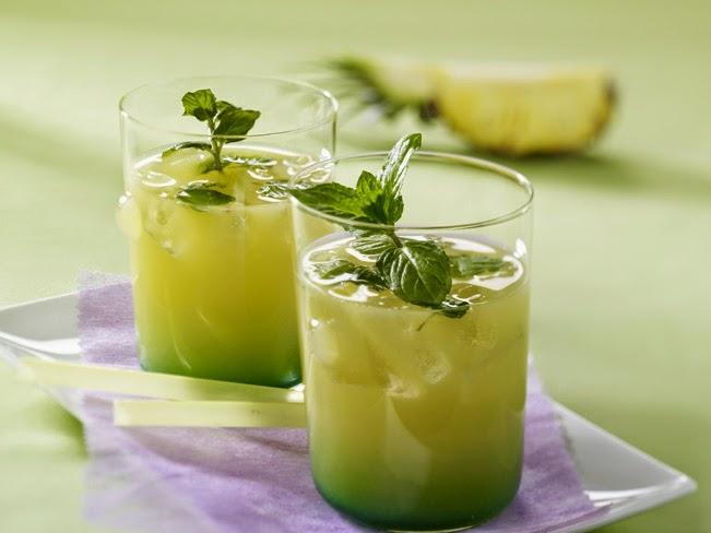 فوائد عصير الأناناس مع النعناع