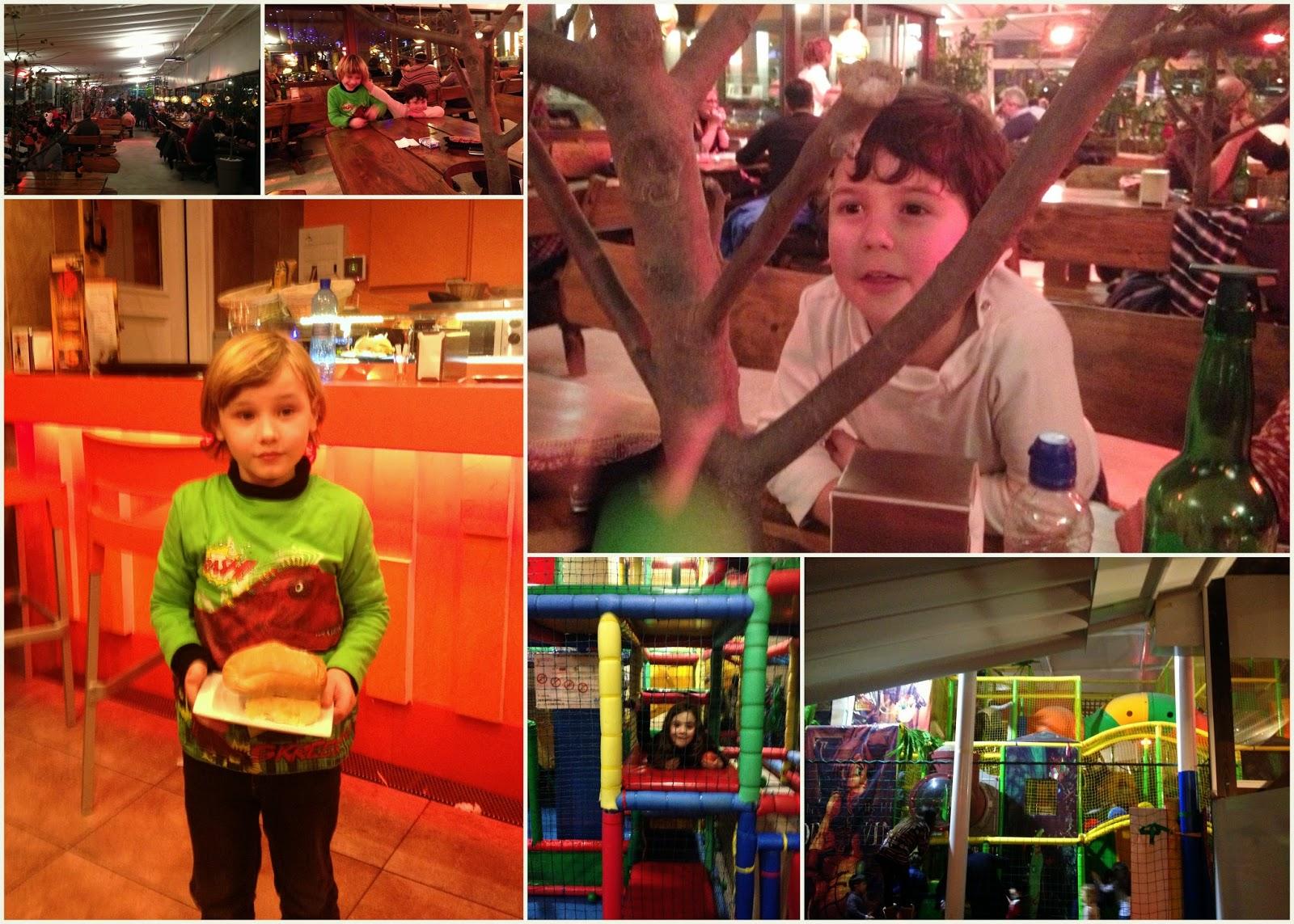 Asturias con niños a dónde vamos hoy? a la Zona de juegos inmensa en la parrilla Kobe