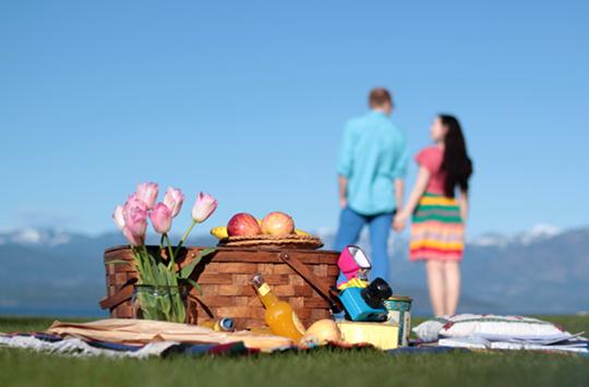 couple picnic photoshoot