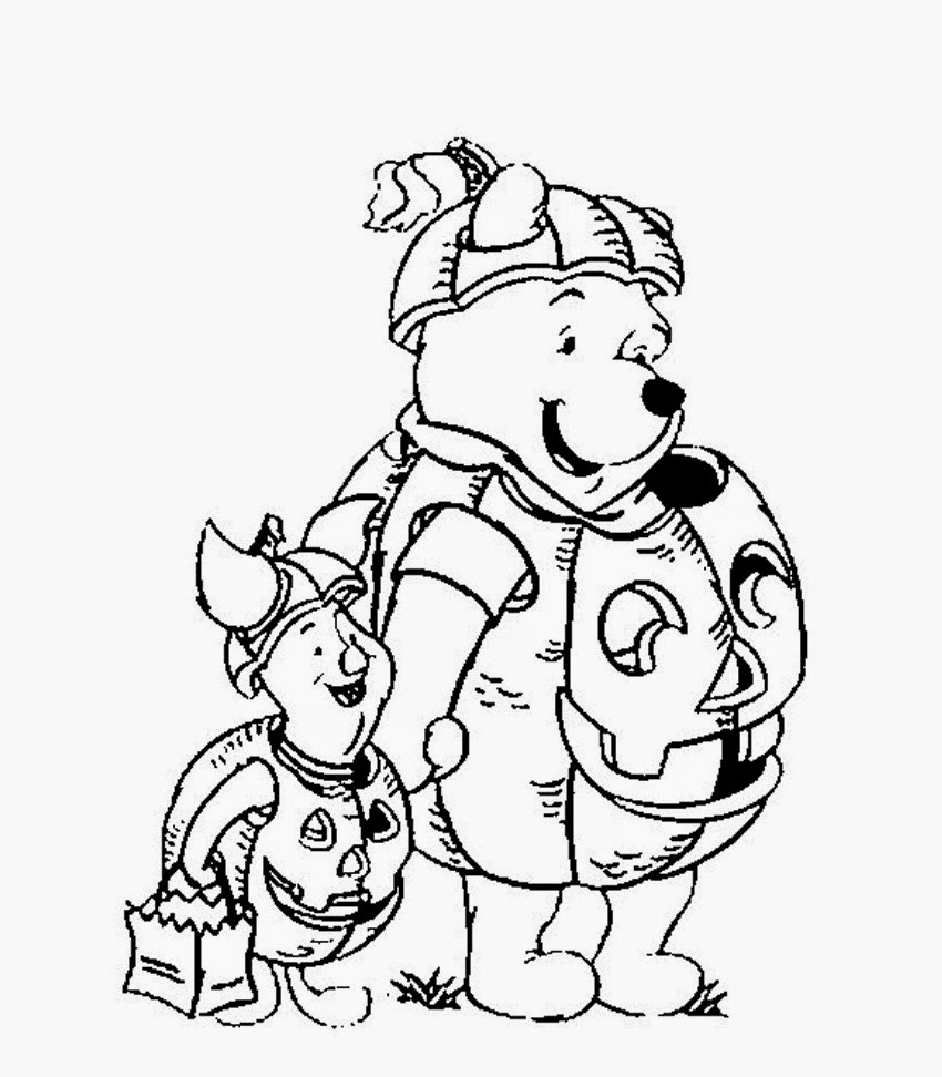 the pooh halloween coloring pages - photo#30