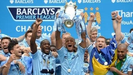 Manchester City Juara Liga Primer Inggris 2013/2014