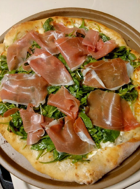 Pizza Night - Arugula Pizza with Prosciutto | Taste As You Go