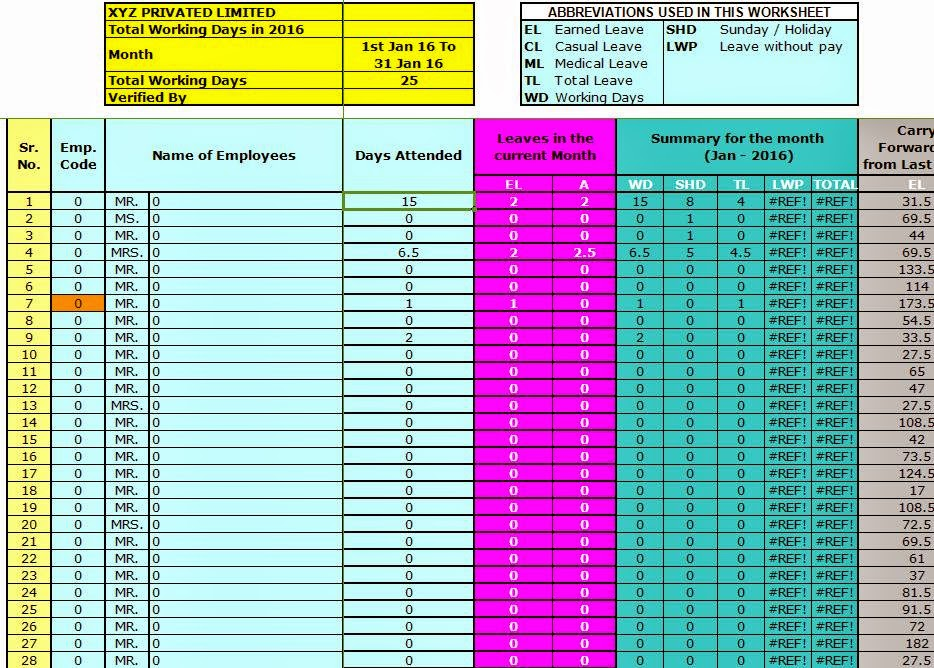 Doc528343 Download Attendance Sheet Monthly Attendance – Office Attendance Sheet Excel Free Download