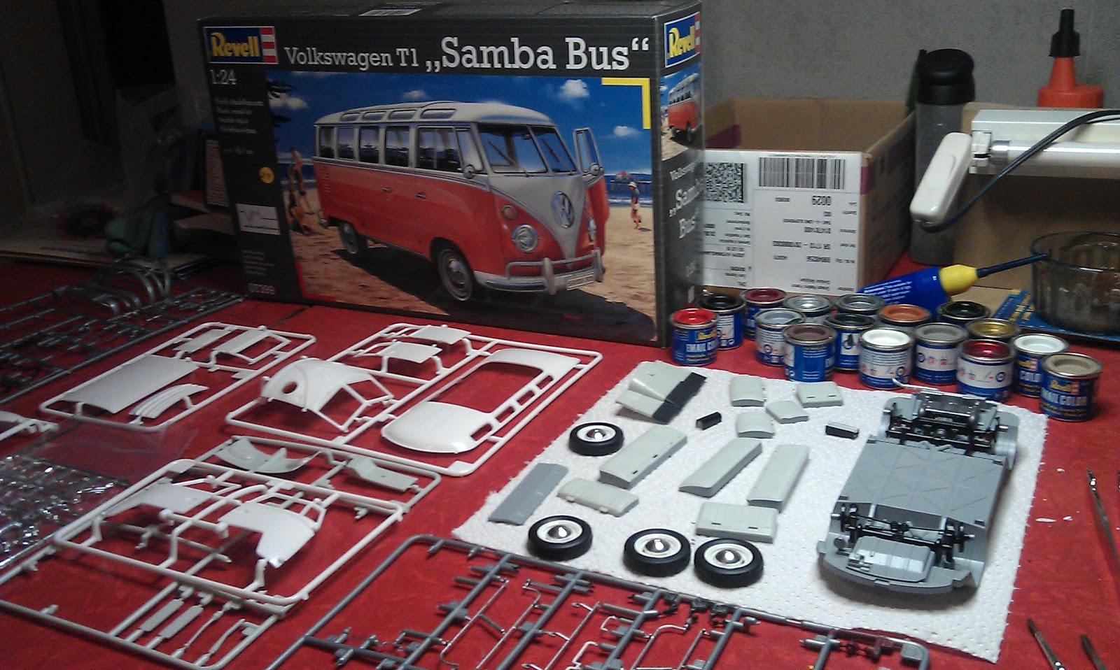 Modelmaker Vp Revell Volkswagen T1 Samba Bus 1 24