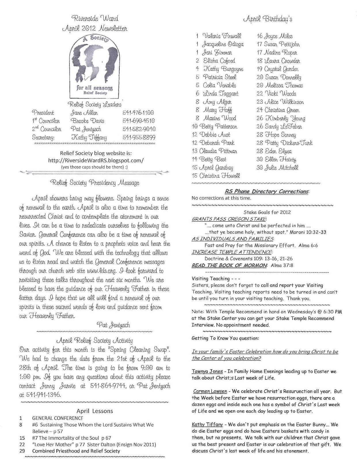 Riverside ward relief society april 2012 riverside ward rs newsletter please click the picture below to open the larger document in a new window buycottarizona Choice Image