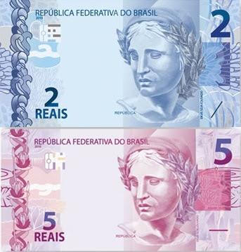 Novas notas de R$ 2 e R$ 5 começam a circular à partir do próximo dia 29 de julho.
