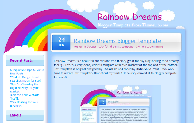 Bright Blogger Template