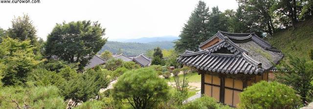 Vista panorámica del templo Buseoksa