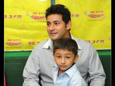 Mahesh Babu with Son Gautham in 1-Nenokkadine