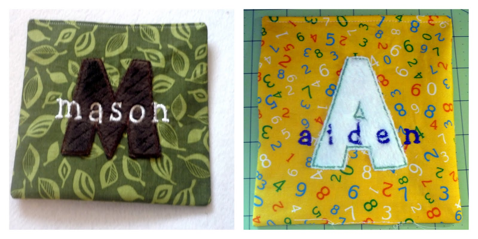 Snips & Spice: Monogram Applique with Name Embroidery