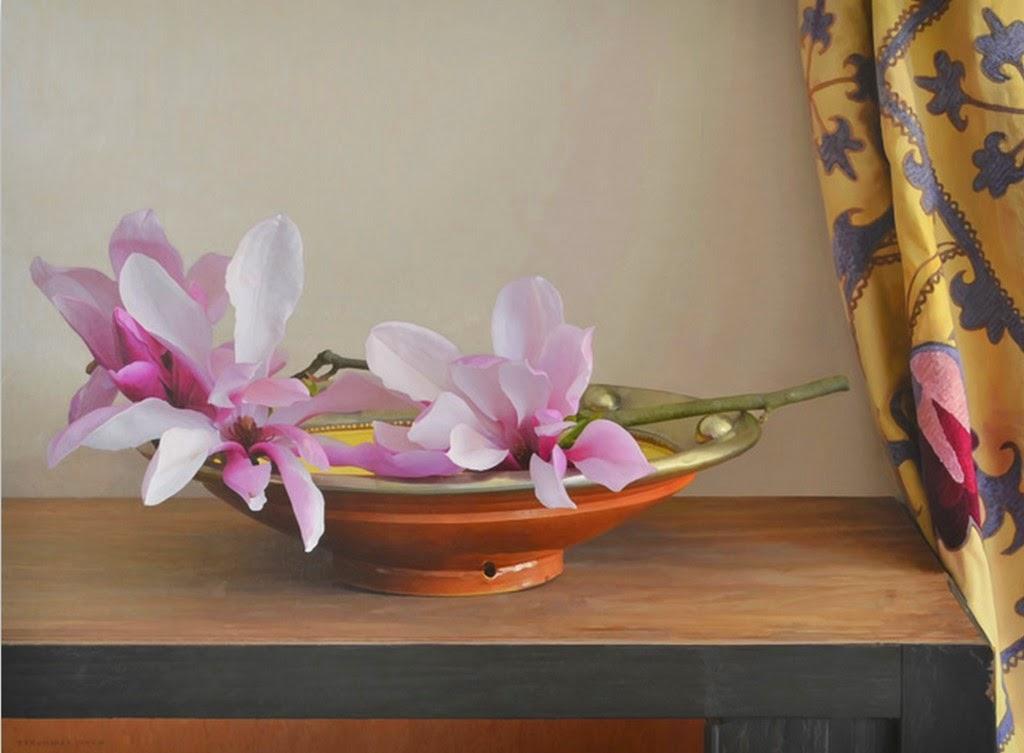 pinturas-realistas-de-bodegones-con-flores
