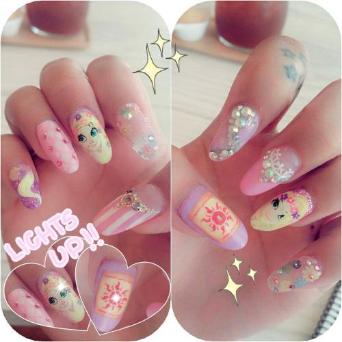 Princess Themed Nails: My Darling Rainbow: Recent Disney Nails