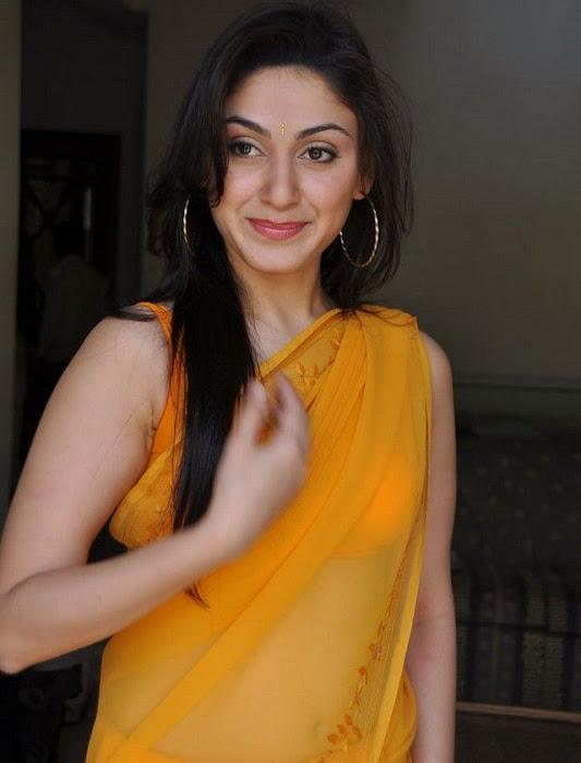 manjari phadnis in yellow saree actress pics
