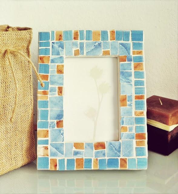 ramka na zdjęcia - mozaika artystyczna